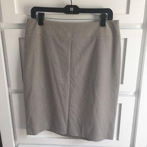 Banana Republic Taupe Gray Wool Pencil Skirt